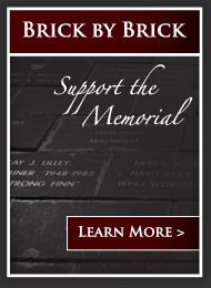 Help Support the Memorial, Brick by Brick, click to learn more